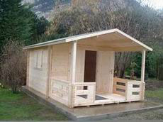 Garden Shed 3m x 3m terrace 2m wall 42mm